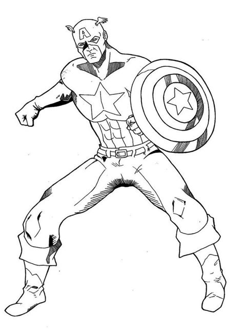 captain america coloring pages coloringpages