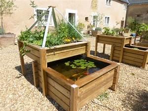 Potager Hors Sol : bassin potager selon le principe de l 39 aquaponie palette ~ Premium-room.com Idées de Décoration