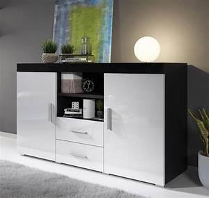 Bahut Noir Et Blanc : bahut mod le roque couleur noir et blanc ~ Teatrodelosmanantiales.com Idées de Décoration