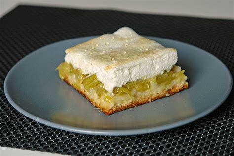 Rhabarberkuchen Mit Eischnee (rezept Mit Bild) Von
