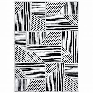 Tapis Noir Et Blanc Scandinave : tapis graphics 200 x 290 cm noir blanc 14871 achat vente tapis sur ~ Teatrodelosmanantiales.com Idées de Décoration