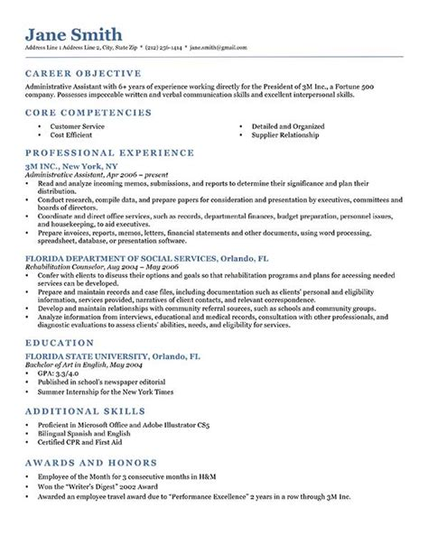Resume Free by 80 Free Professional Resume Exles By Industry