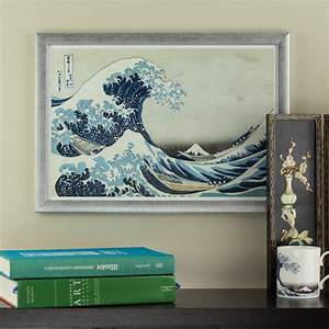 The great wave off kanagawa 13x19 framed asian wall art for Asian wall art