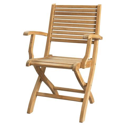 fauteuil pliant de jardin en teck massif ol 233 ron maisons