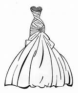 Coloring Pages Dress Wedding Dresses Printable Sheets Outfits Educativeprintable sketch template