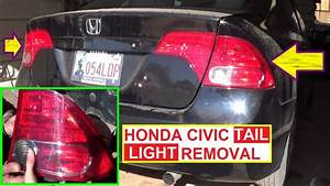 Honda Civic Tail Light Removal And Replacement 2006 2007