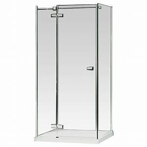 shower screen frameless euro 1200x900x1900mm hinged With bathroom wall panels bunnings