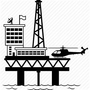 12 Oil Platform Icon Images - Offshore Oil Rigs Icons, Oil ...