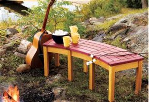 Build A Campfire Bench  Canadian Home Workshop