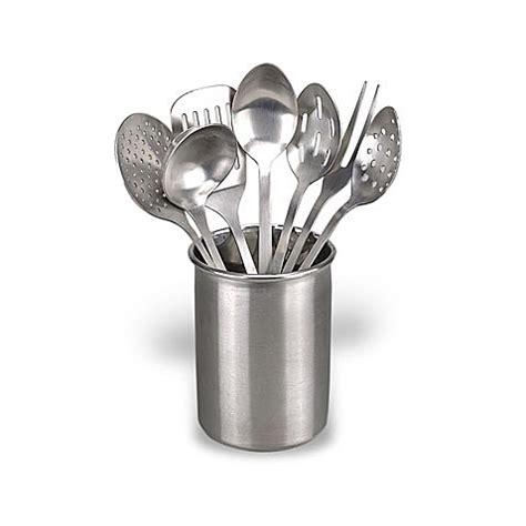 kitchen utensil set eight stainless steel kitchen utensil set bed bath
