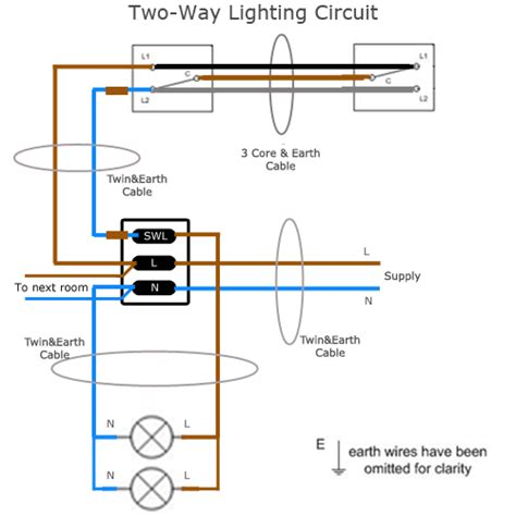 Two Way Lighting Circuit Wiring Sparkyfacts