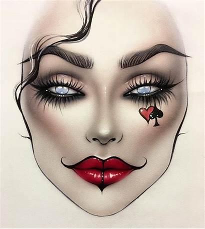 Makeup Face Comic Scary Eye Milk1422 Artist