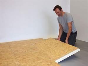 Plaque D Isolation Au Sol : combi floor vloerisolatie met osb afwerkingsplaat iko ~ Premium-room.com Idées de Décoration