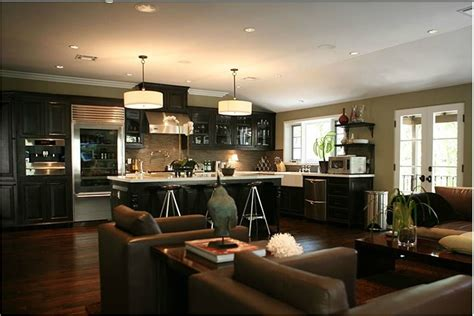Ideas For Kitchen And Family Room by Jeff Lewis Small Kitchen Living Room Combo Design