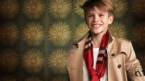 romeo beckham is billy elliot in burberry s giddy studded ad adweek