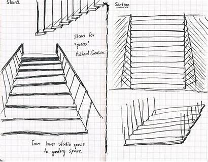 Stairs Sketch Tharida Arch1101 Stair