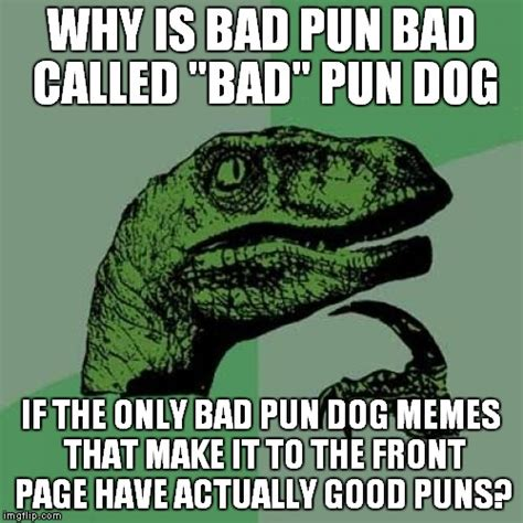 Meme Pun - seems to me like the bad pun dog should be called quot good pun dog quot but that s none of my