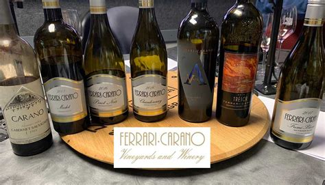 From the mountain winery estate. Ferrari-Carano Vineyards and Winery - California Wine Country