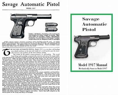 Savage 1917 Manual Pistol Automatic M1907 1907