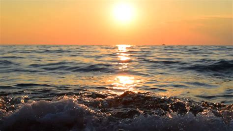 sea sunset video background stock video footage