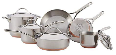 anolon nouvelle stainless  piece cookware induction cookware anolon stainless steel pans