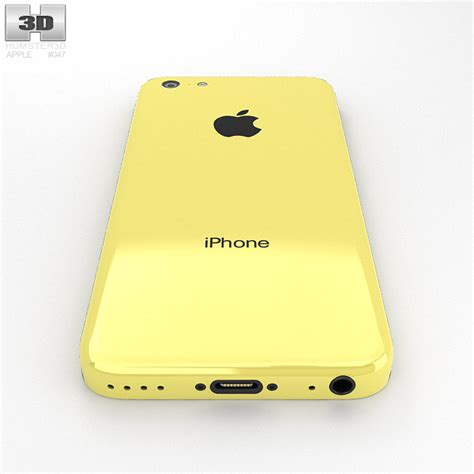 yellow iphone 5c apple iphone 5c yellow 3d model humster3d