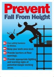 preventfallfromheight safety poster shop safety poster