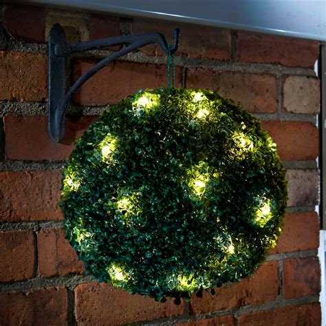 solar powered topiary ball cm garden decorations