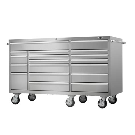 viper tool storage vp7218ss pro stainless steel 18 drawer roll away tool chest atg stores