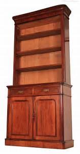 Tall, Mahogany, Open, Top, Bookcase