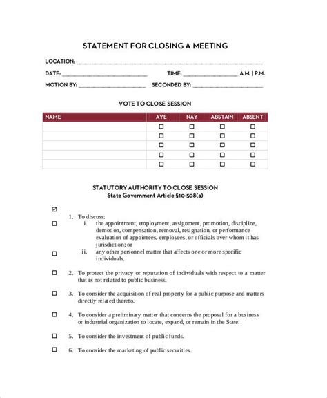 statement forms