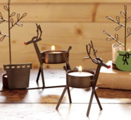red nosed reindeer tealights christmas winter holiday