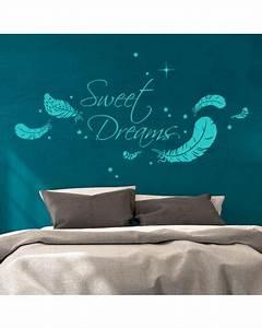 Wandtattoo Sweet Dreams : wandtattoo sweet dreams mit federn und sternen m1759 wandtattoos elfent r tassen ~ Whattoseeinmadrid.com Haus und Dekorationen
