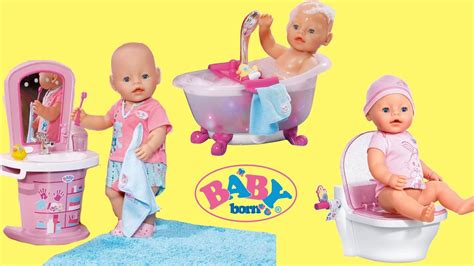 Baby Born Washbasin, Bathtub & Magic Potty Dolls Toys