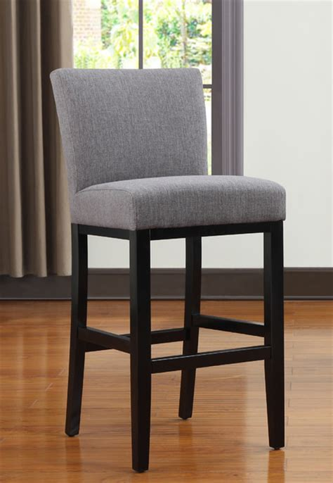 Upholstered Kitchen Counter Stools portfolio charcoal gray linen upholstered 30 inch