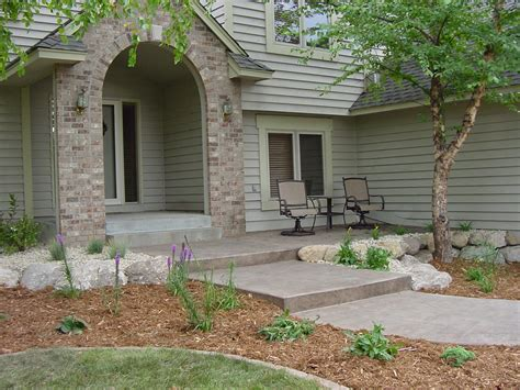 architecture comfortable front house landscape design ideas with luxurious inspiration white