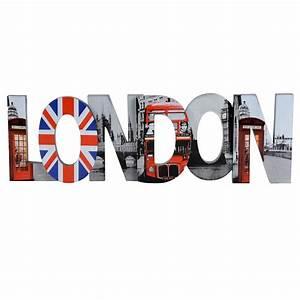 Decoration Murale Monde : d co murale en bois 19 x 60 cm london maisons du monde ~ Teatrodelosmanantiales.com Idées de Décoration