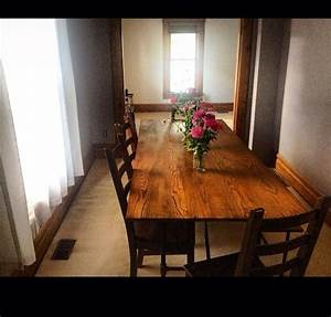 Dining table made from church pews Project Ideas I love