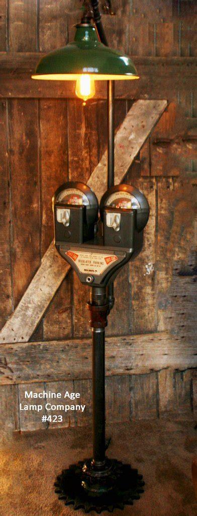 steampunk industrial parking meter floor lamp steam