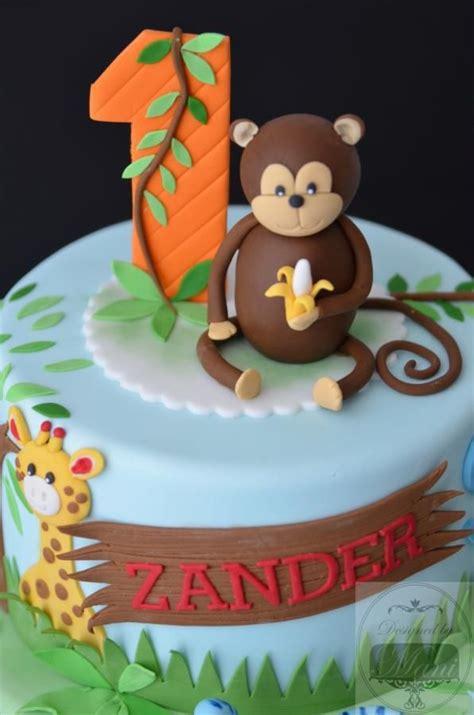 cute jungle themed  birthday cake   zander