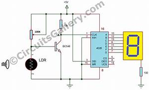 Automatic Digital Visitor Counter Circuit Diagram Simple