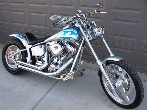 Custom Harley-type Softail Chopper Motorcycle, For Sale On