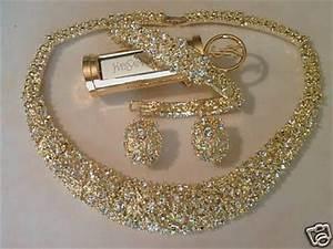 super parure or diamant cz blanc collier bo bracelet With parure de bijoux pas cher