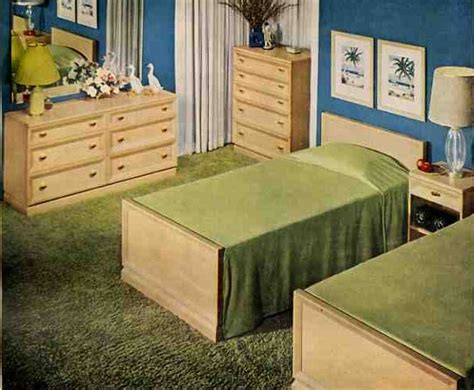 1950s bedroom furniture 50s bedroom a very typical bedroom set of drexel 10009 | 1952 drexel bedroom crop