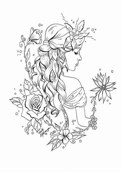 Coloring Pages Fairy Adults Printable Sheets Adult