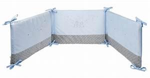 Tour De Lit Etoile : tour de lit poudre etoile bleu doudouplanet ~ Teatrodelosmanantiales.com Idées de Décoration