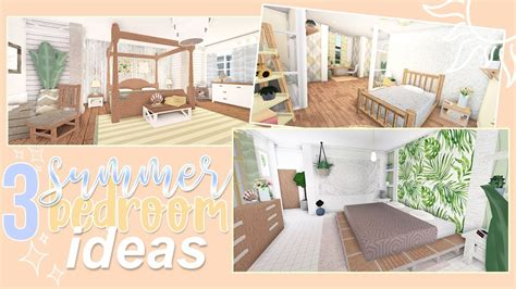 summer bedroom ideas roblox bloxburg youtube