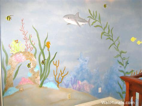 ocean wall murals beach theme underwater wall murals