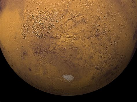 SVS: A Rotating True Color View of the Martian South Pole