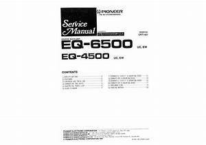 Pioneer Eq-6500 Uc Ew